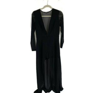Express Romper with Chiffon Duster Size 8 Black